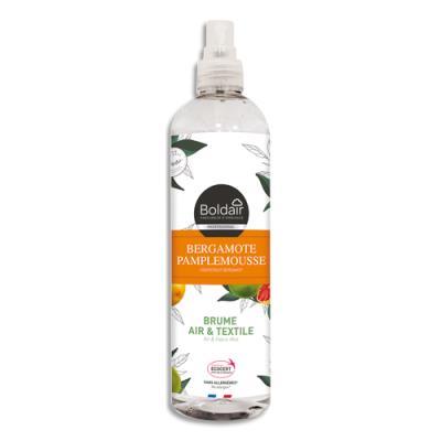 Brume air et textile Boldair - parfum Bergamote pamplemousse - spray de 400 mL