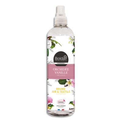Brume air et textile Boldair - parfum Orchidée Vanille - spray de 400 mL