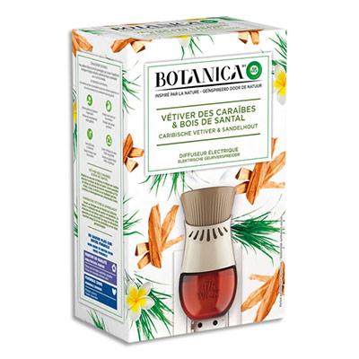 Diffuseur électrique Botanica Airwick - livré avec recharge - vétiver des Caraïbes et bois de santal -  19 mL