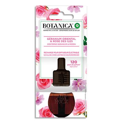 Recharge pour diffuseur électrique Botanica Airwick - parfum Rose des îles et Géranium oriental - 19 mL