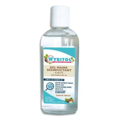 Gel hydro-alcoolique Wyritol - désinfectant rapide pour les mains - parfum Karité - flacon de 100 mL