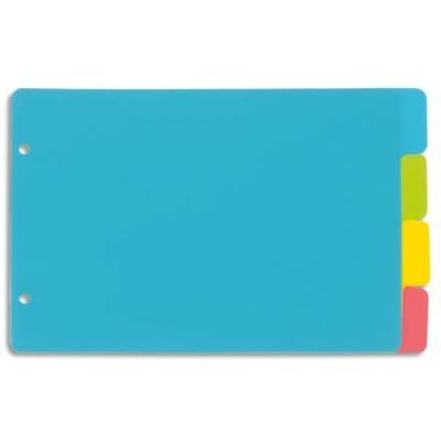 Intercalaire polypro Viquel Happy Fluo - A5 - portrait - coloris fluo multicolores - jeu de 4