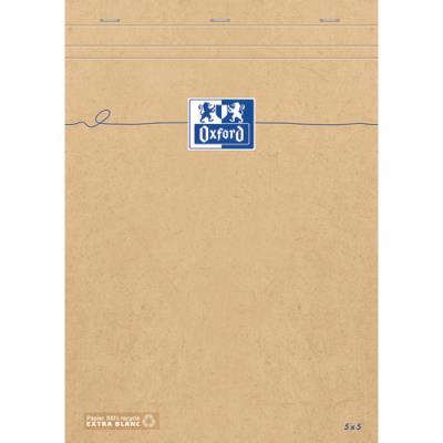 Bloc agrafé en tête Touareg Oxford - 180 pages - format A4+ - couverture kraft recyclée (photo)