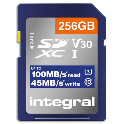 Carte SDXC INSDX246G-100V30 Integral - 256Go - 4K (photo)