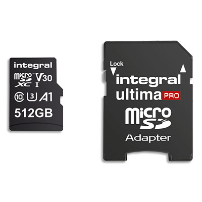 Carte SDXC INMSDX512G100/80V30 Integral - 512Go - 4K (photo)