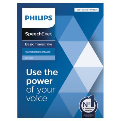 Logiciel SpeechExec Basic Transcribe 11 Philips - clé de licence physique pour 2 ans LFH4622/00