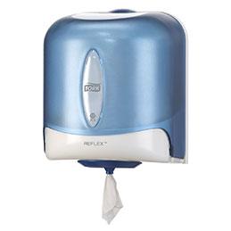 Distributeur d'essuie mains Tork Maxi-Reflex  - système à dévidage central feuille à feuille (photo)