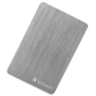 Disque dur USB 3.2 Alu Slim Verbatim - 2,5'' - 2 To - gris anthracite