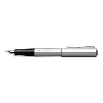 Stylo plume Faber Castell Hexo - aluminium anodisé - plume en acier inoxydable M - argent