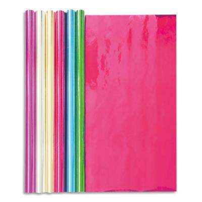 Rouleau papier métallisé Clairefontaine - 1 face - 2x0,7m - coloris assortis (photo)