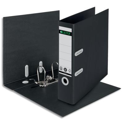 Classeur à levier Recycle Leitz - carton - dos 8 cm - mécanisme 180 ° - 100% recyclable - noir