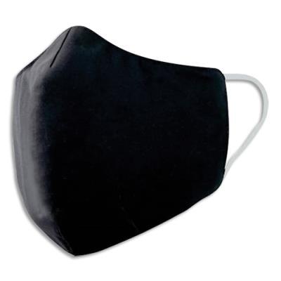 Masque en tissu - 30 lavages - sous emballage individuel et stérilisé - noir