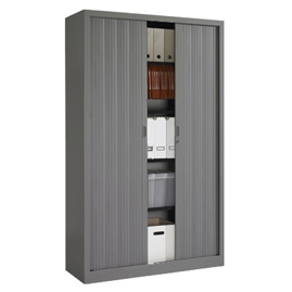 armoire rideaux eco h 198 x l 120 x p 43 cm corps gris anthracite rideaux gris. Black Bedroom Furniture Sets. Home Design Ideas