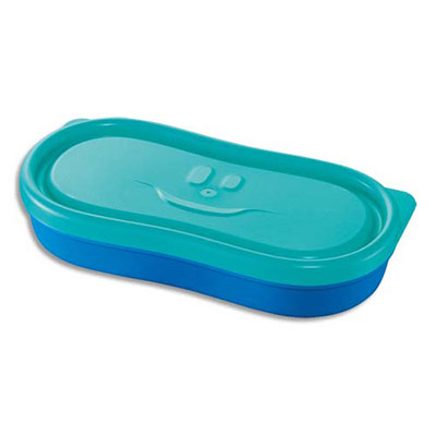 Boîte à snack Maped - 150 ml - concept enfants - en PP - étanche - bleu - lot de 2