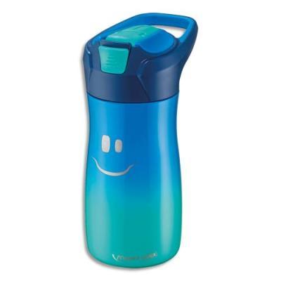 Gourde Maped - 430 ml - concept enfants - en PP - bouton automatique - système de pipette - étanche - bleu