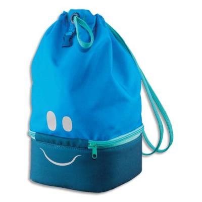 Sac à Déjeuner Maped - concept enfants - polyester - partie basse isotherme - yeux bouche réfléchissants - bleu