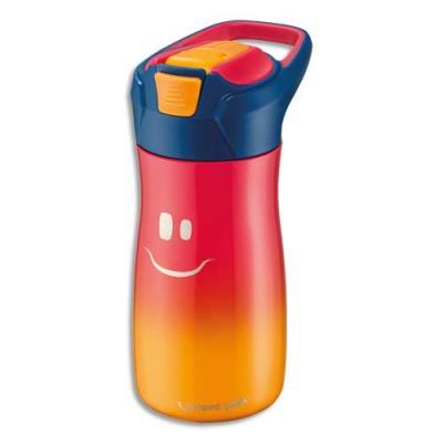 Gourde Maped - 430 ml - concept enfants - en PP - bouton automatique - système de pipette - étanche - rose