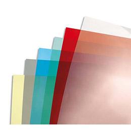 Plats de couvertures Fellowes A4 - PVC - 200 microns - boîte de 100 - rouge transparent
