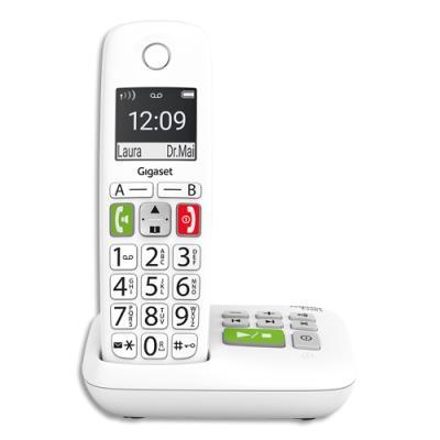 Téléphone sans fil Gigaset E290 Solo - avec répondeur - blanc
