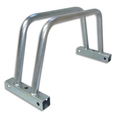 Rack à vélos unitaire Viso - modulable - acier zingué - fixations inclus - L40 x H22 x P15 cm - gris