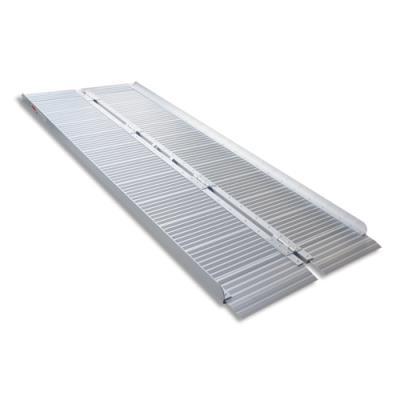 Rampe d'accès PMR Viso - aluminium - pliable - avec poignée - charge 272 kg - L183 x H5/7 x P36/71 cm - gris
