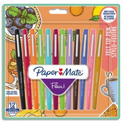 Feutre Papermate flair senteur - coloris assortis - blister de 12