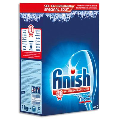 Sel régénérant pour lave-vaisselle Finish - lutte contre les dépôts de calcaire - paquet de 4 Kg (photo)