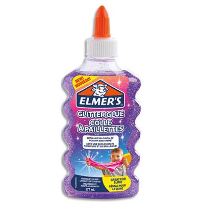 Colle à paillettes et paillettes Elmers - violettes