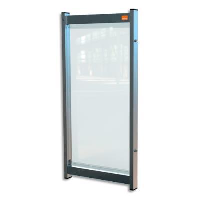 Extension de séparation modulaire pour bureau Nobo - film PVC transparent - small - L40 x H82 x P40 cm (photo)
