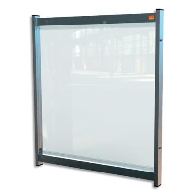 Extension de séparation modulaire pour bureau Nobo - film PVC transparent - médium - L75 x H82 x P40 cm (photo)