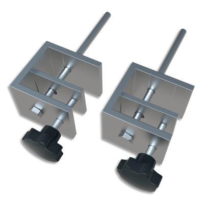 Pince de fixation pour séparateur pour bureau Nobo - épaisseur bureau de 1,5 à 3 cm - film en PVC - set de 2
