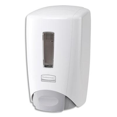 Distributeur de savon et mousse Flex Rubbermaid - capacité 500 ml - L10 x H22 x P12,7 cm - blanc