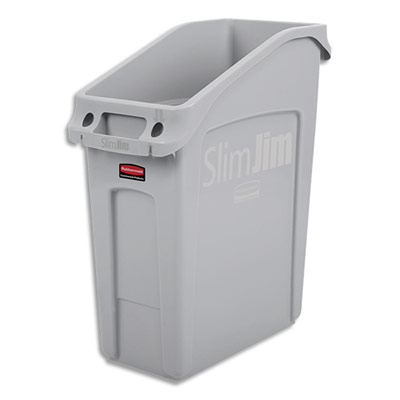 Collecteur encastrable Slim Jim Rubbermaid - capacité 49 Litres - L55,8 x H66 x P24,9 cm - gris