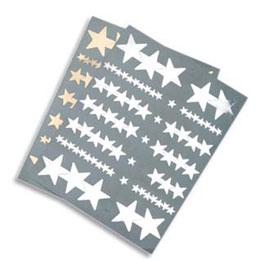 Gommettes or/argent - format a5 - étoiles (photo)