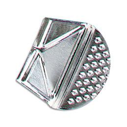 Coin de lettres en aluminium blanc - boîte de 100 (photo)