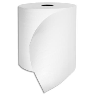 Bobines d'essuie-mains pure ouate Tifon - cellulose blanche - 2 plis - longueur 140 m - laize 19,40 cm - lot de 6 (photo)