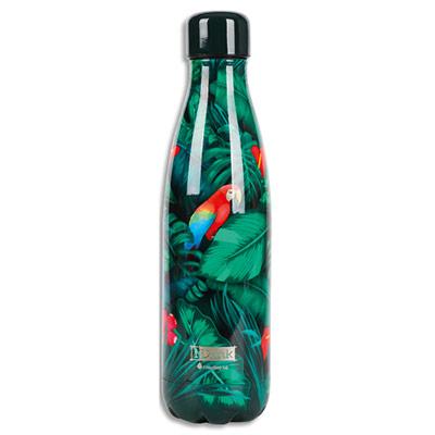 Bouteille thermique I-Drink - 500 ml - motif tropical birds (photo)