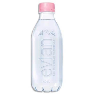 Bouteille plastique d'eau minérale Evian - 40 cl (photo)