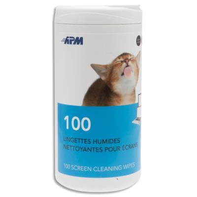 Lingettes pour tablettes / smartphones 600103 APM - boîte de 100 (photo)