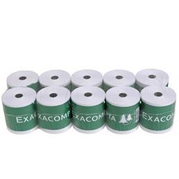 Bobine de papier double enroulement pour caisse et calculatrice - format 57 x 70 x 12 mm - dupli (photo)
