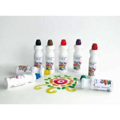 Boite de 8 marqueurs de coloriage Chunkie embout mousse ne sêche pas couleurs assorties (photo)