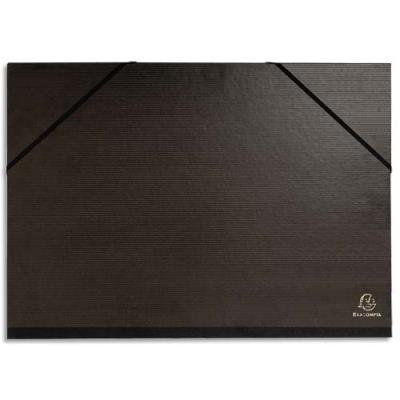 Carton � dessin avec �lastiques Claircell -  verg� kraft noir - 45x32 cm - Coloris noir