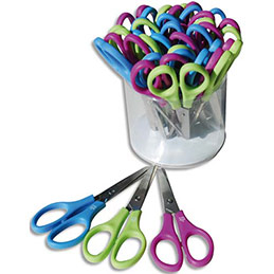 Pot de 26 paires de ciseaux écoliers bouts ronds Safetool 13cm dont 2 gratuits (photo)