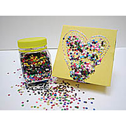 Bocal de sequins étoile 6 mm 120 g assortis (photo)