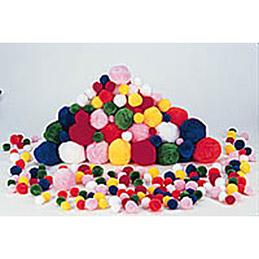 Sachet de 300 pompons couleurs et tailles assortis (photo)