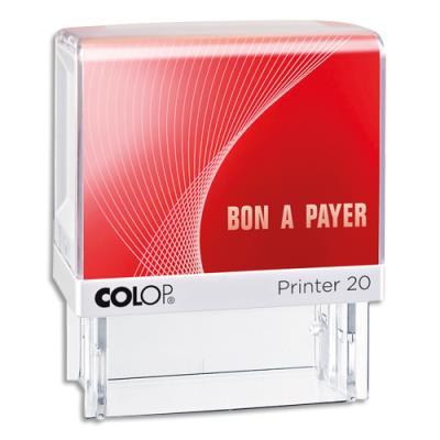 Tampon à formule Colop : BON A PAYER - encrage automatique - empreinte rouge 38 x 14 mm