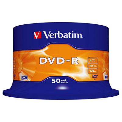 Verbatim - 50 x DVD-R - 4.7 Go 16x - argent mat - spindle (photo)