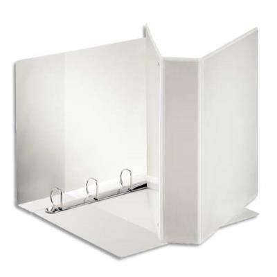 Classeur à couverture personnalisable sur trois faces Esselte - polypropylène blanc - dos de 8,6 cm