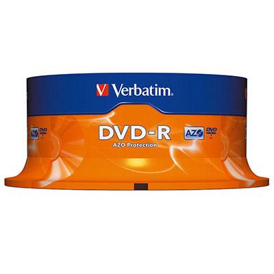 Verbatim - 25 x DVD-R - 4.7 Go 16x - argent mat - spindle (photo)