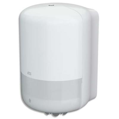 Distributeur d'essuie mains à dévidage central Tork M2  - pour maxi bobines - en abs blanc (photo)